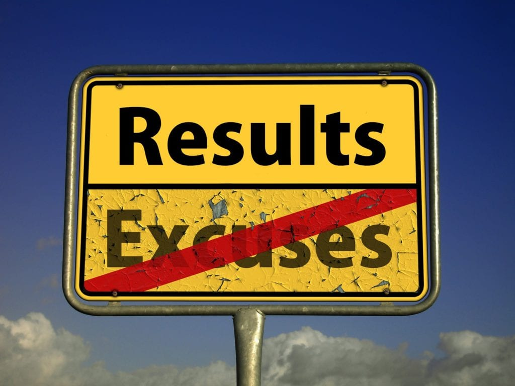 Results, sign, positive change