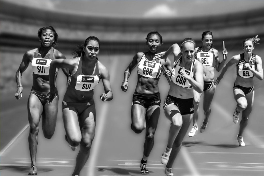 Competition, women marathon, running