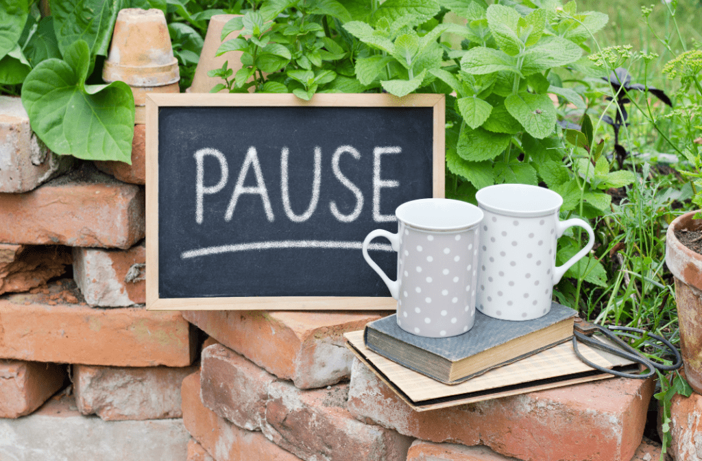 break, pause