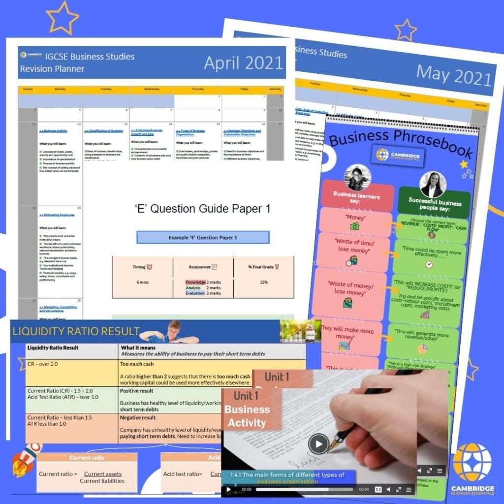 Cambridge iGCSE revision planner